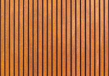 Wooden Slats Background With V...
