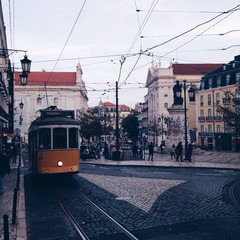 View Of Cable Car In City