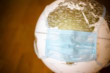 Covid-19 Globe Focused On Africa