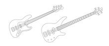 Line Illustration Of Bass And ...