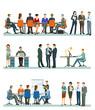 eine Gruppe von Geschäftsleuten bei einer Geschäftsbesprechung im Büro