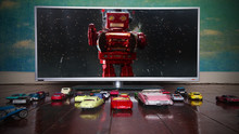 Retro Toy Cars Drive-in Movie Concept
