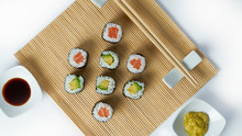 Sushi Composition With Salmon,...
