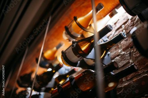 Wine cellar full of wine bottles Fototapete