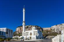 Gibraltar, United Kingdom. Ibrahim-al-Ibrahim Mosque, Europa Point, Gibraltar