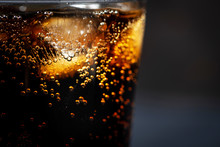 Glass Of Coca Cola With Ice On...