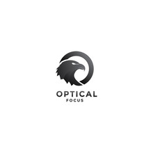 Abstract Eagle For Optic Logo Design Vector