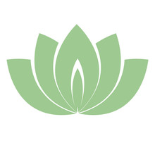 Lotus Flower Logo, Simple Gree...