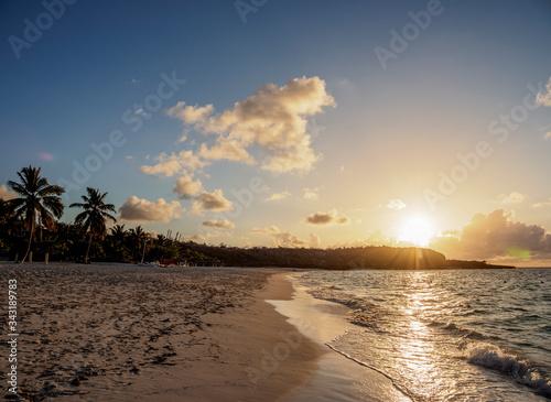 Playa Esmeralda at sunset, Holguin Province, Cuba Canvas Print