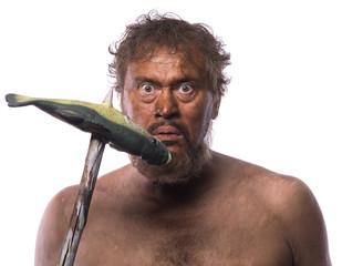 portrait of an ancient caveman