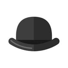 Men's Bowler Hat. Isolated On ...
