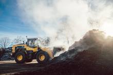 Bulldozer At Heavy Earthworks ...