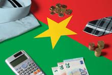 Burkina Faso Flag On Minimal M...