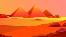 Pyramids Of Egypt Illustration