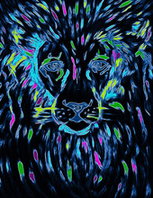 Abstract Colorful Neon Glow Oi...