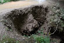 Collapsed Edge Of The Road Fro...