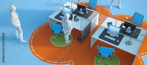 Obraz na plátně Post Covid office design