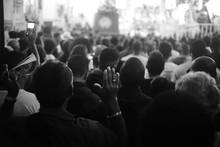 Crowd During Religious Celebration
