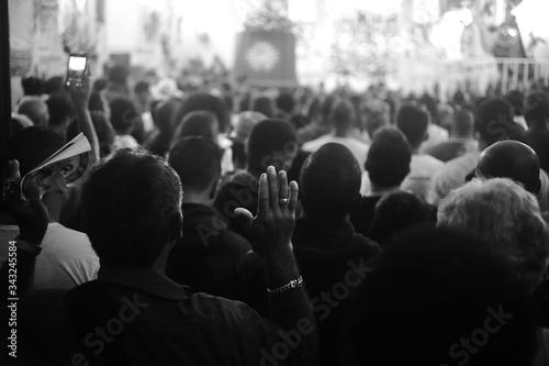 Fotografiet Crowd During Religious Celebration