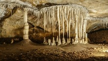 Stalactites And Stalagmites In...