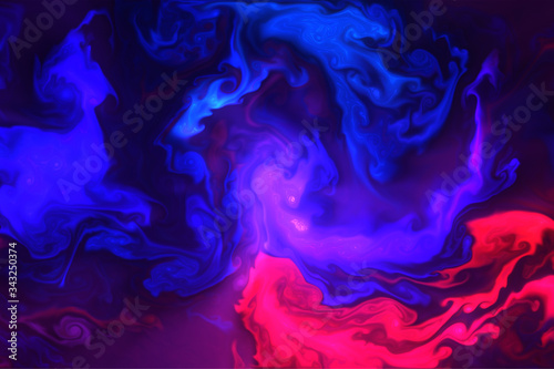 Fototapety, obrazy: abstract colorful smoke