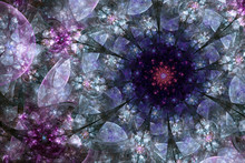 Dark Purple Fractal Stained Gl...