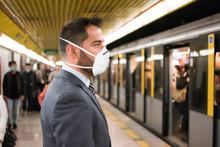 Masked Businessman Entering Th...