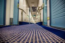 A Long Corridor In Blue Style ...