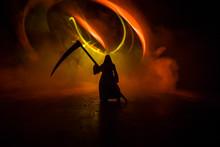 Death With A Scythe In The Dar...