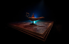 Lamp Of Wishes Concept. Antiqu...