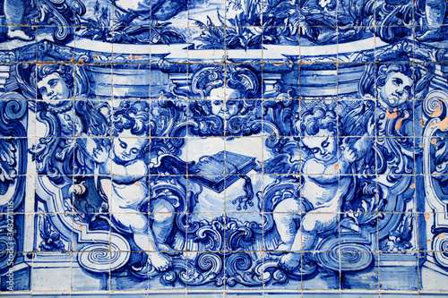 Traditional Portuguese hand painted tiles Fototapet