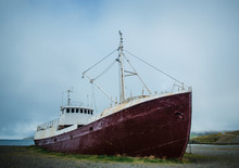 Gardar Ba64, Iceland's Oldest Ship, Built In 1912 In Norway. Patreksfjörður, Western Fjords, Iceland, Atlantic Ocean