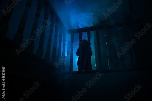 Fotografie, Tablou Inside of old creepy abandoned mansion