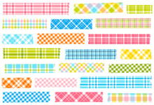 Collection Of Plaid Washi Tape...