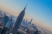 Tilt Image Of Empire State Bui...