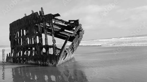 Photo Shipwreck On Sandy Beach