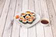 Image of Japanese rice and seaweed maki