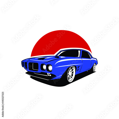 Fotomural muscle car vector images