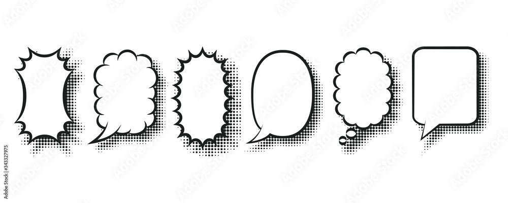 Fototapeta Speech bubbles of various shapes