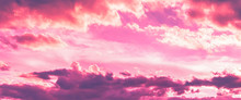 Pink And Purple Color In Sky A...