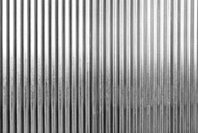 Black And White Corrugated Metal Texture Surface Or Galvanize Steel Background