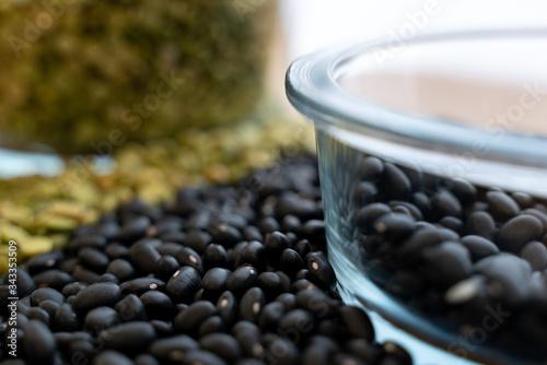 mélange de pois cassés et haricots noirs Canvas Print
