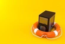 Computer Inside Life Buoy