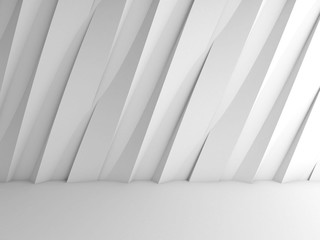 Abstract white interior background, 3d decor