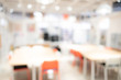 canvas print picture - Abstract blur empty workshop space in modern office building. Blurred workspace perspective. Use for background or backdrop in design element. Co working space concept