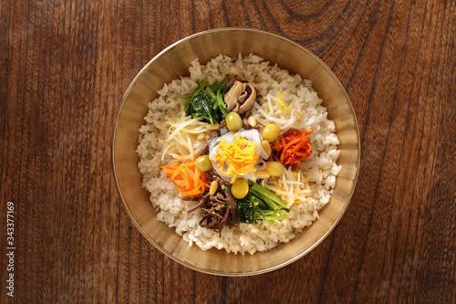Photo 한국의 전통음식 비빔밥