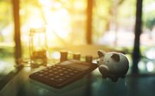 Calculator , Piggy Bank , Coin...