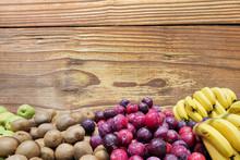 Fresh Apples, Kiwis, Plums And...
