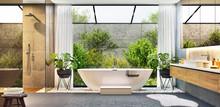 Luxurious Modern Bathroom With...