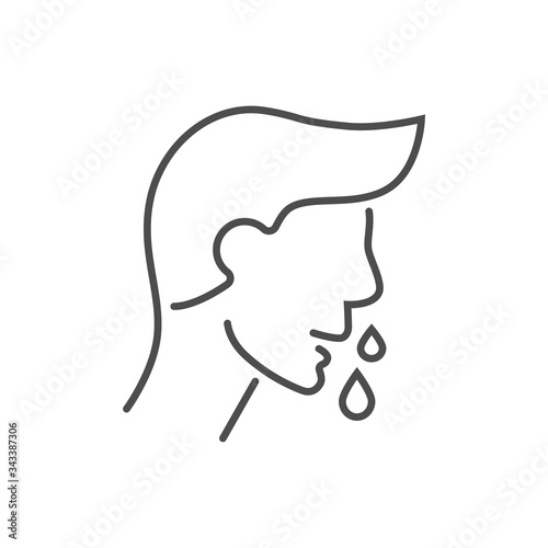 Fototapeta Runny nose related vector thin line icon